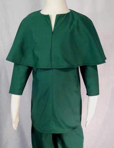 Boys' Robin Hood or medieval shirt, front. Perfect for Renaissance festivals, costume parties or Halloween.