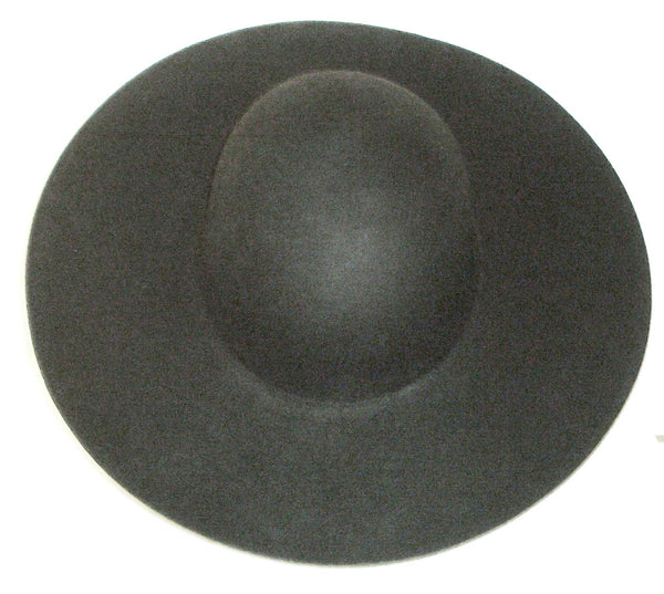 Cavalier Hat Blank from White Pavilion, top view. Choose this hat for living history, medieval, renaissance, pirate, cowboy, steampunk, vampire and many other costumes.