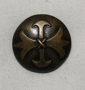 Brass Cross Button - 1 Dozen