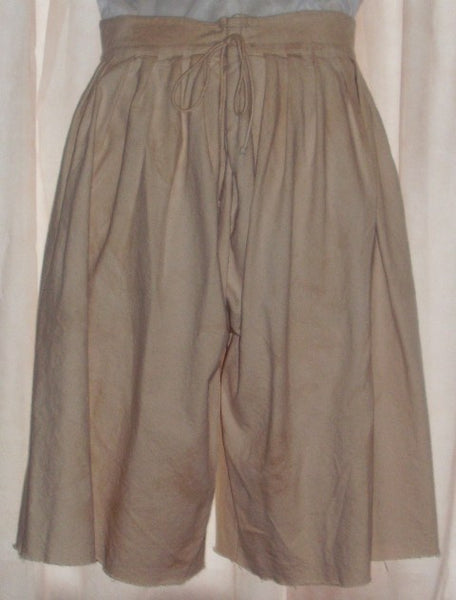 Pirate pants (slops) by White Pavilion Costumes, back view. These pants are ideal for pirate costumes, reenactors, and 18th century sailors.