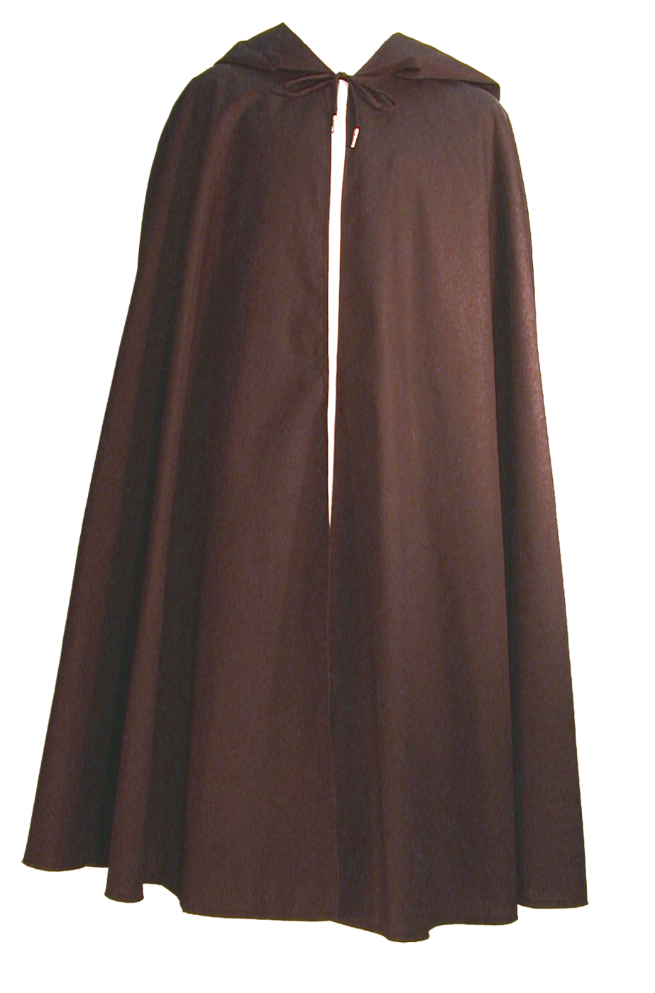 Wanderer Cape from White Pavilion Costumes, front view. Ideal for medieval costumes, renaissance costumes, fantasy costumes, fairytale costumes, pirate costumes, Robin Hood costumes, hobbit costumes and Halloween costumes.