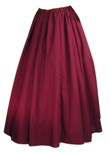 Flirt Skirt by White Pavilion Costumes. This drawstring skirt is perfect for most living history reenactors: medieval, renaissance, pirate, colonial era, and Victorian. It's also good for fantasy, fairytale, gypsy, Steampunk, Goth and vampire styles.