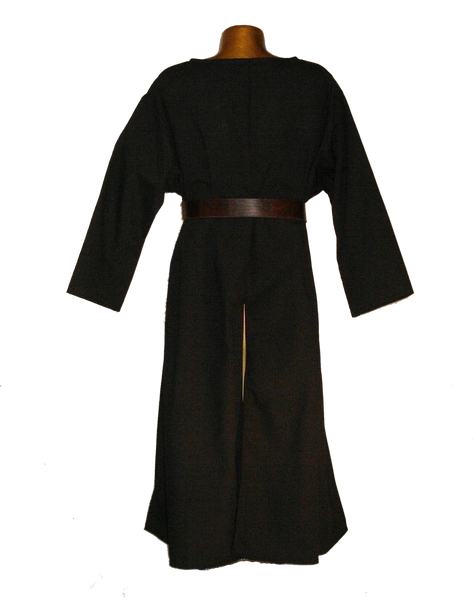 Medieval Hospitaler Knight Tunic by White Pavilion, back view. This is the ideal companion to our Medieval Hospitaler Knight Cape and essential for any Medieval Hospitaler Knight costume.