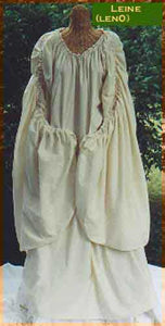 Leine or Celtic chemise by White Pavilion Costumes. This chemise is ideal for medieval, renaissance, Irish, Scottish, and other traditional Celtic costumes.