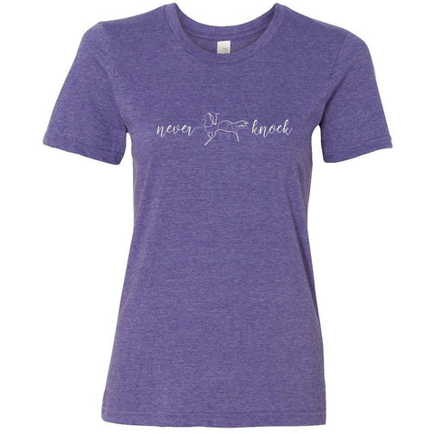Never Knock One-Line T-Shirt: Purple