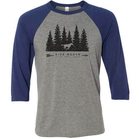 Super soft basebal t-shirt featuring our Ride North logo for lovers of horse and all things equine.