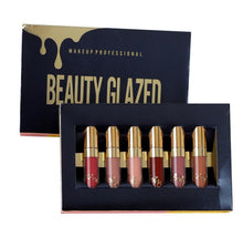 Load image into Gallery viewer, Beauty Glazed 6 piece mini liquid lipstick set.