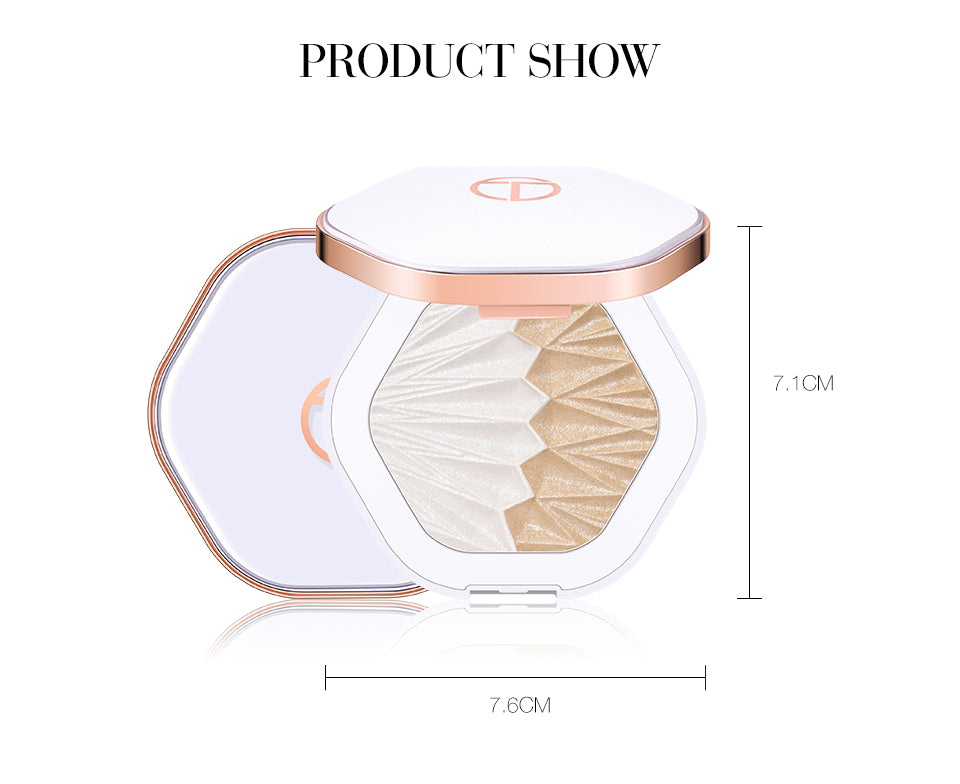 O.TWO.O, Glowing 2 In 1 Highlighter Palette