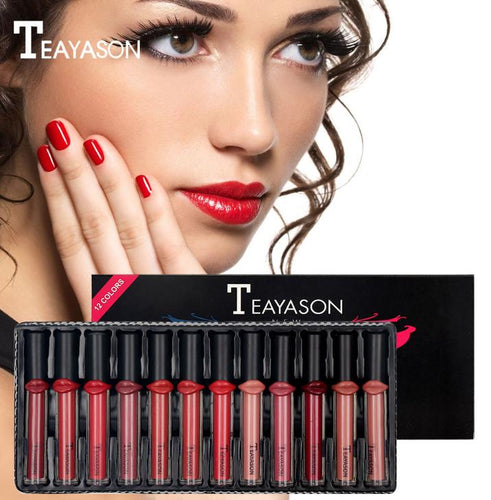 Teyason 12 piece LIPS liquid lipstick