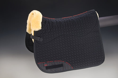 Square Pad Therapeutic 4 Pockets (Dressage) - Horsedream Importers - best sheepskin saddle pads
