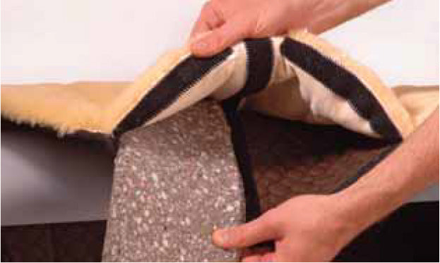 Foam Inserts for Treeless Saddle Pad - Horsedream Importers - best sheepskin saddle pads