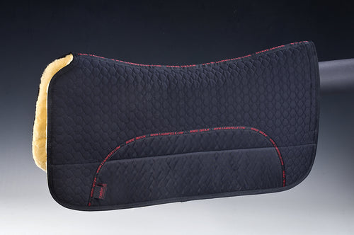 Western Pad w/ Pockets (20mm Lambskin) - Horsedream Importers - best sheepskin saddle pads