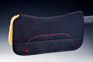Western Pad w/ Pockets (30mm Lambskin) - Horsedream Importers - best sheepskin saddle pads