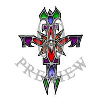 Stained Glass Eye Cross