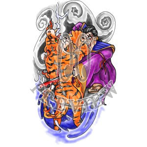 Samurai Killing Tiger