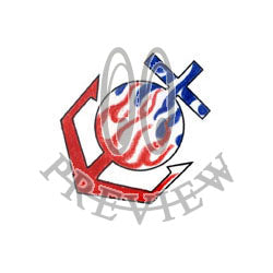 Red White and Blue Flame Anchor
