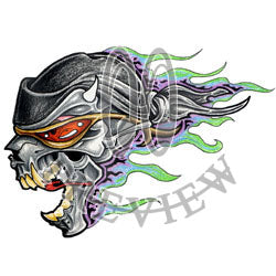 Burning Bikerskull