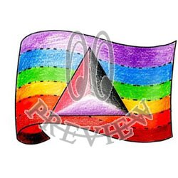 Rainbow Flag with Combo Triangle