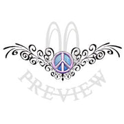 Peace Sign Filigree