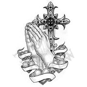 Praying Hands Crossenhearts