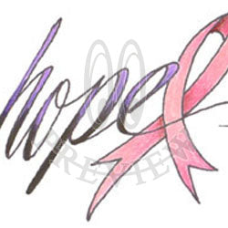 Hope Awareness Ribbon 02