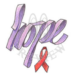 Hope Awareness Ribbon 03