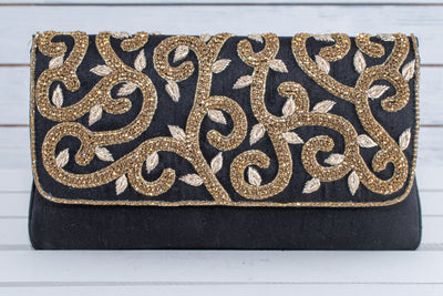 Stylish Black embellished purse
