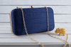 Blue embellished purse