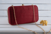 Embellished maroon purse
