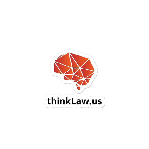 thinkLaw Bubble-free Brain stickers