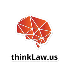 Load image into Gallery viewer, thinkLaw Bubble-free Brain stickers