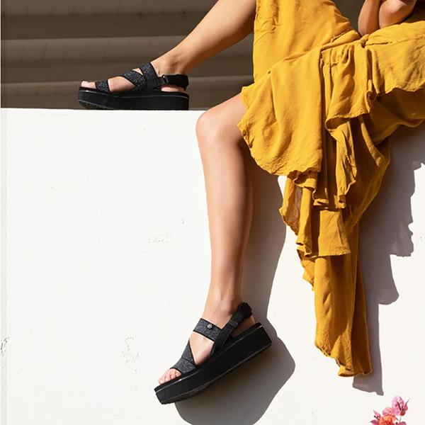 Lovinchic Elastic Upper Platform Sandals