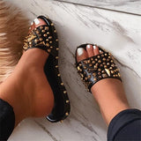 Blisshoes Best Seller Gioni spiked studded black sandals