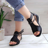 Blisshoes Casual Cool Chain Wedge Heel Sandals