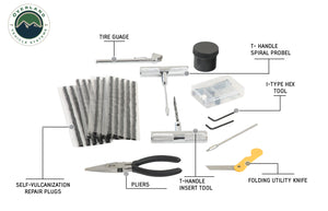 Overland Vehicle Systems 53 Piece Tire Plug / Valve Stem Repair Kit