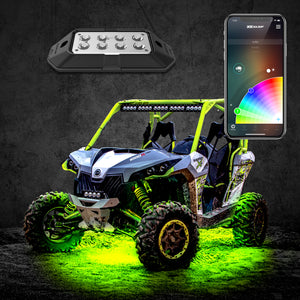 XK Glow UTV, RZR, X3 LED Rock Light Kit, XKChrome App Controlled