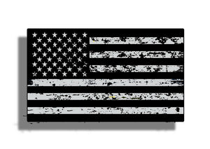 Black Ops Distressed American Flag Black & White Sticker