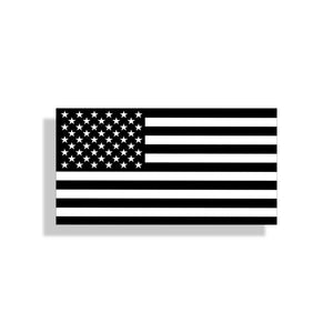 American Flag Black & White Sticker