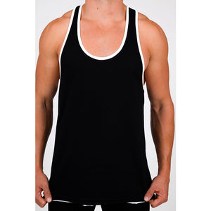 Pistol Pete PPTK107-202 WRESTLER Double Raw Hem Tank /Gray