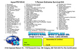 PK105-X 1 Persn (Personal/Back country kit)