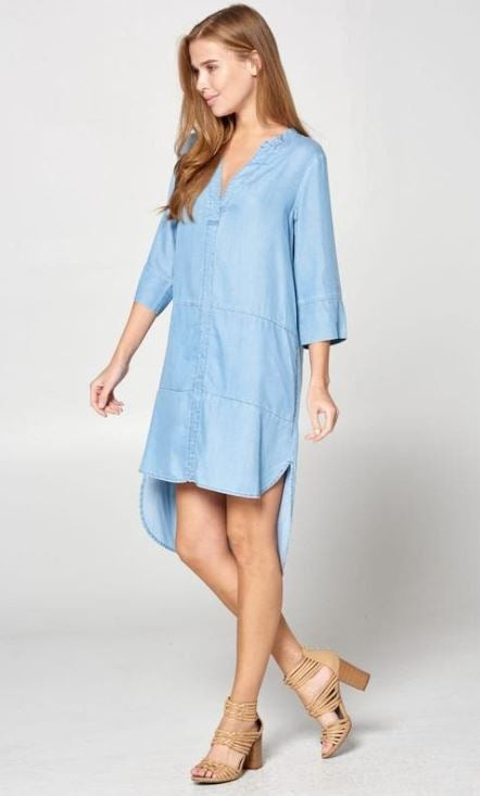 Tencal Denim Hi-Lo Dress