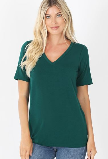 Zenana V-Neck Short Sleeve Standard Tee