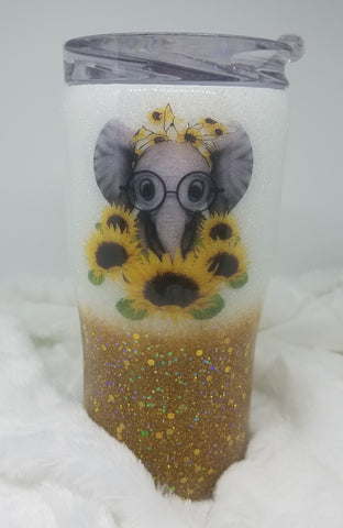 Elephant and Sunflowers