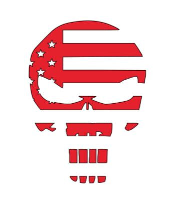 Flag Skull Decal