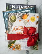 Load image into Gallery viewer, The Autoimmune Paleo Cookbook, The Nutrient-Dense Kitchen, and The Autoimmune Wellness Handbook 3-Book Bundle (Signed & Personalized)