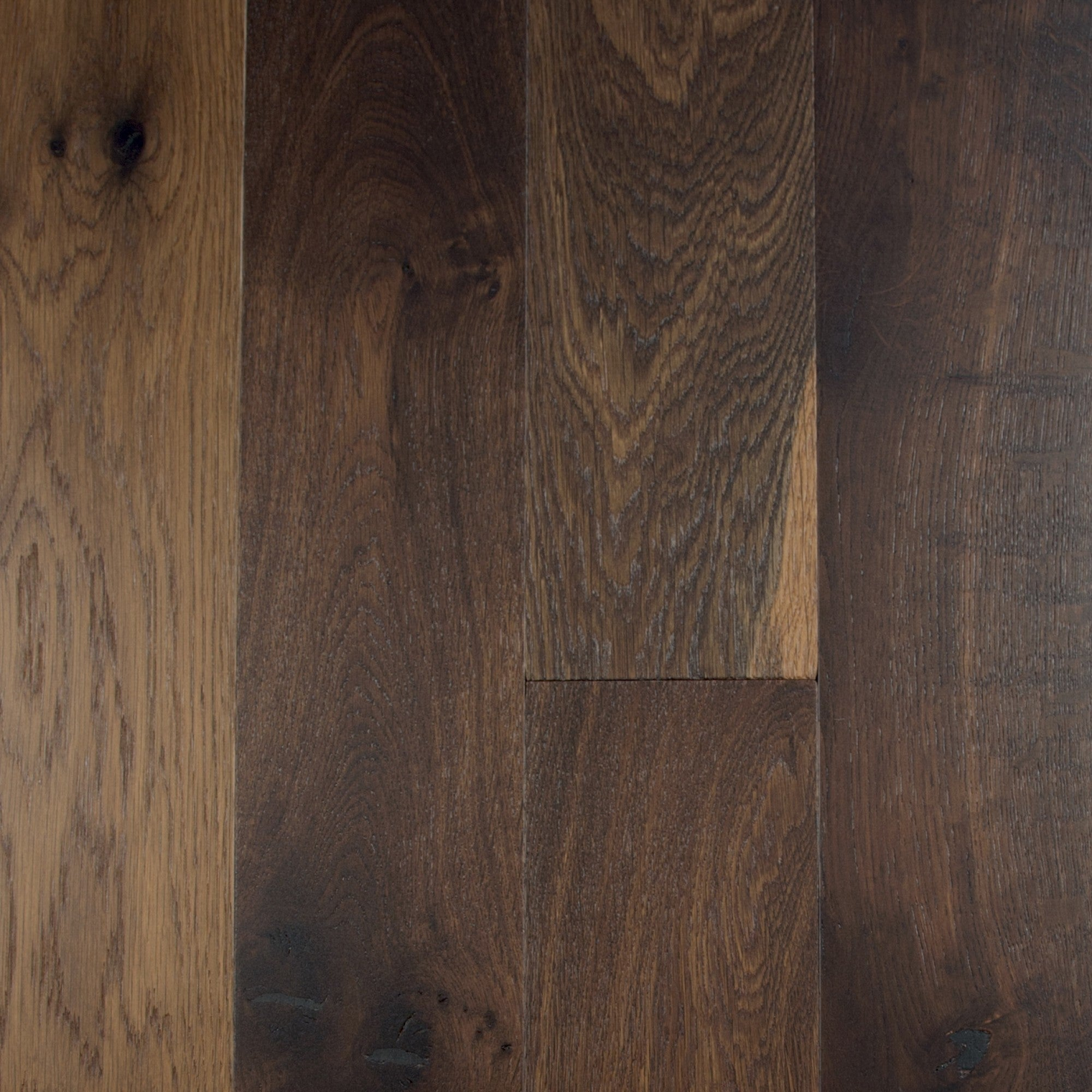 Fumed - White Oak Old Oak Wire Brushed