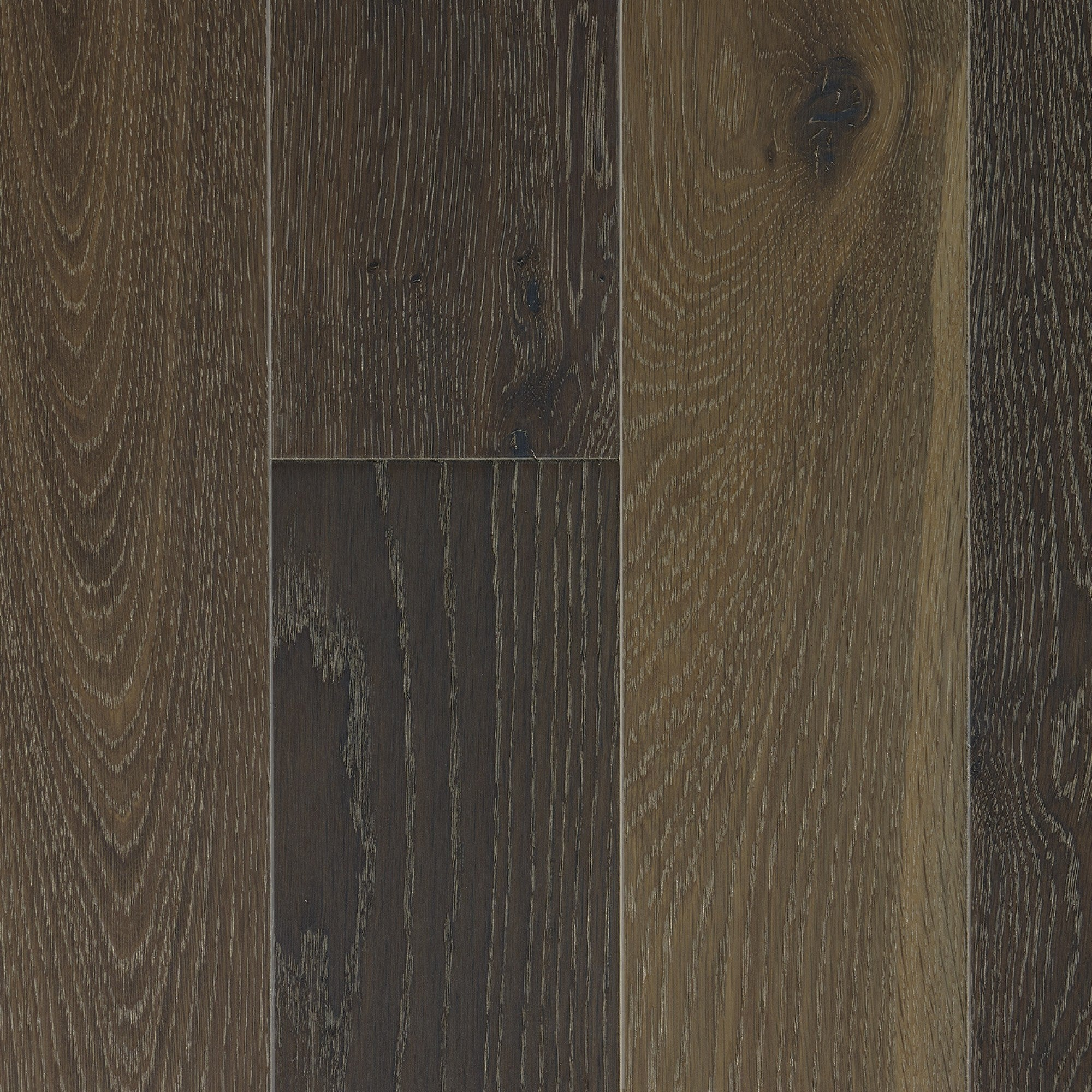 Fumed - White Oak Spartacus Wire Brushed