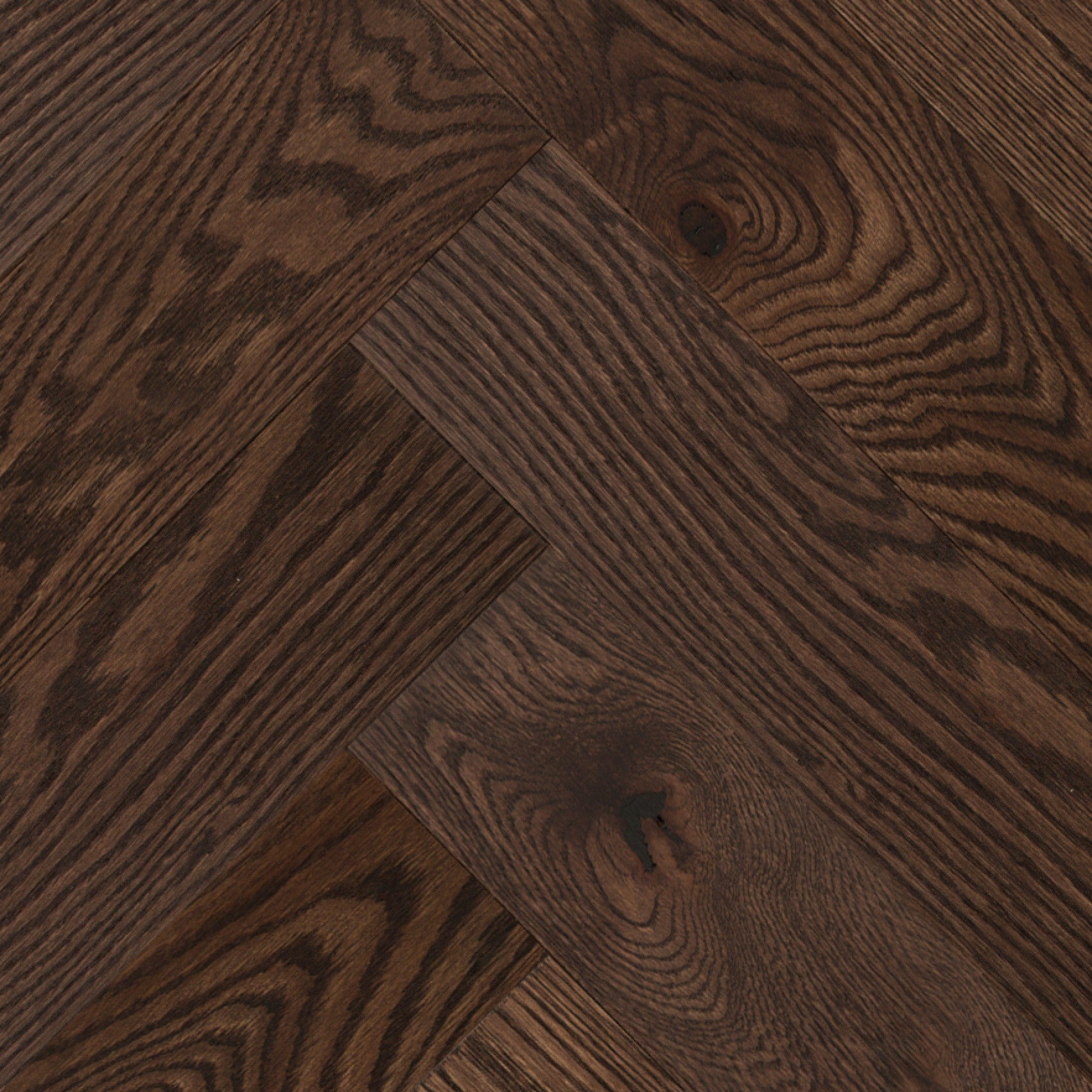 Herringbone - Red Oak Berkshire Wire Brushed