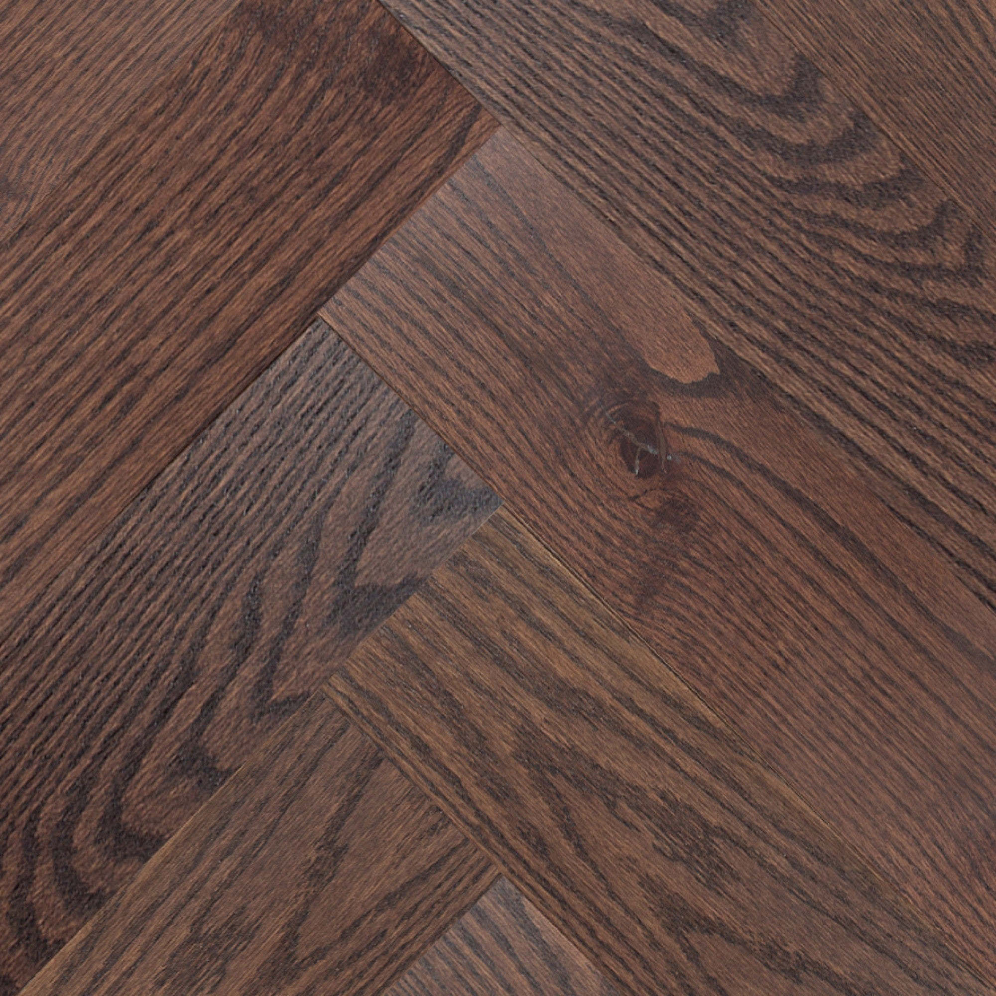 Herringbone - Red Oak Dover Wire Brushed