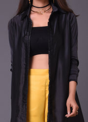 Black Asymmetric Jacket